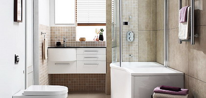 Small-Tiles-in-Brown-Color-Scheme-in-Small-Modern-Bathroom-Decorating-Designs-Ideas