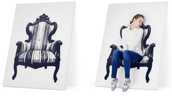 Folding canvas art chair by YoY Studio