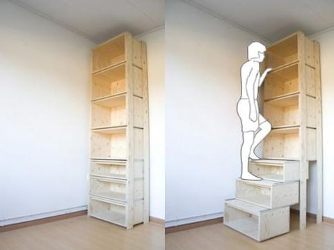 Vertical storage solutions for small spaces spaced out - Storage solutions small spaces property ...