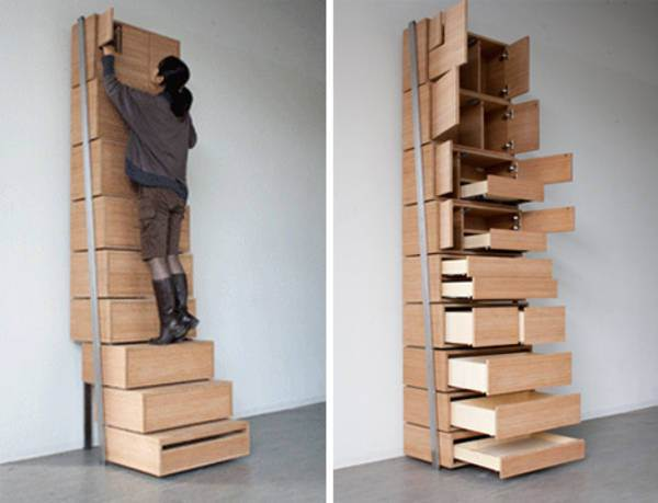 Storage that turns into steps