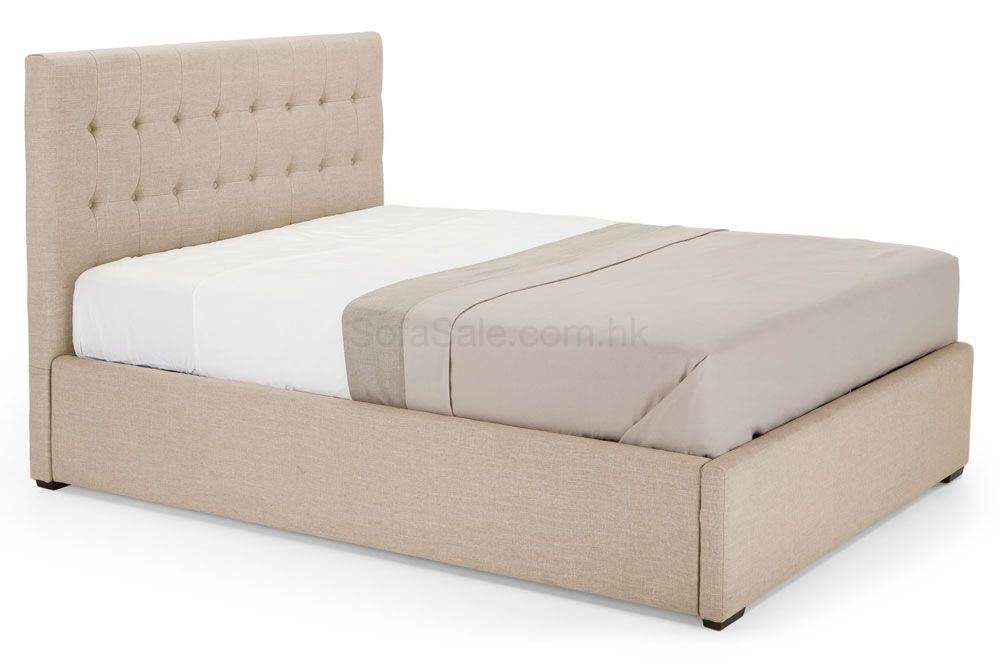beige hydraulic lift bed