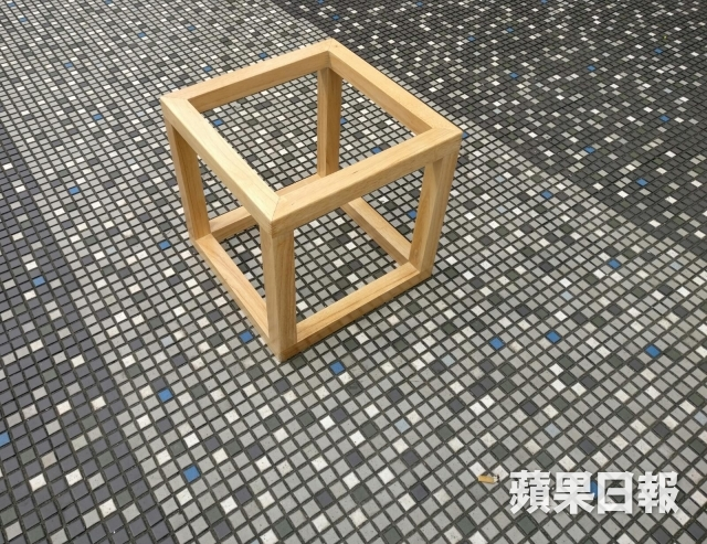 One wooden and open faced storage cube