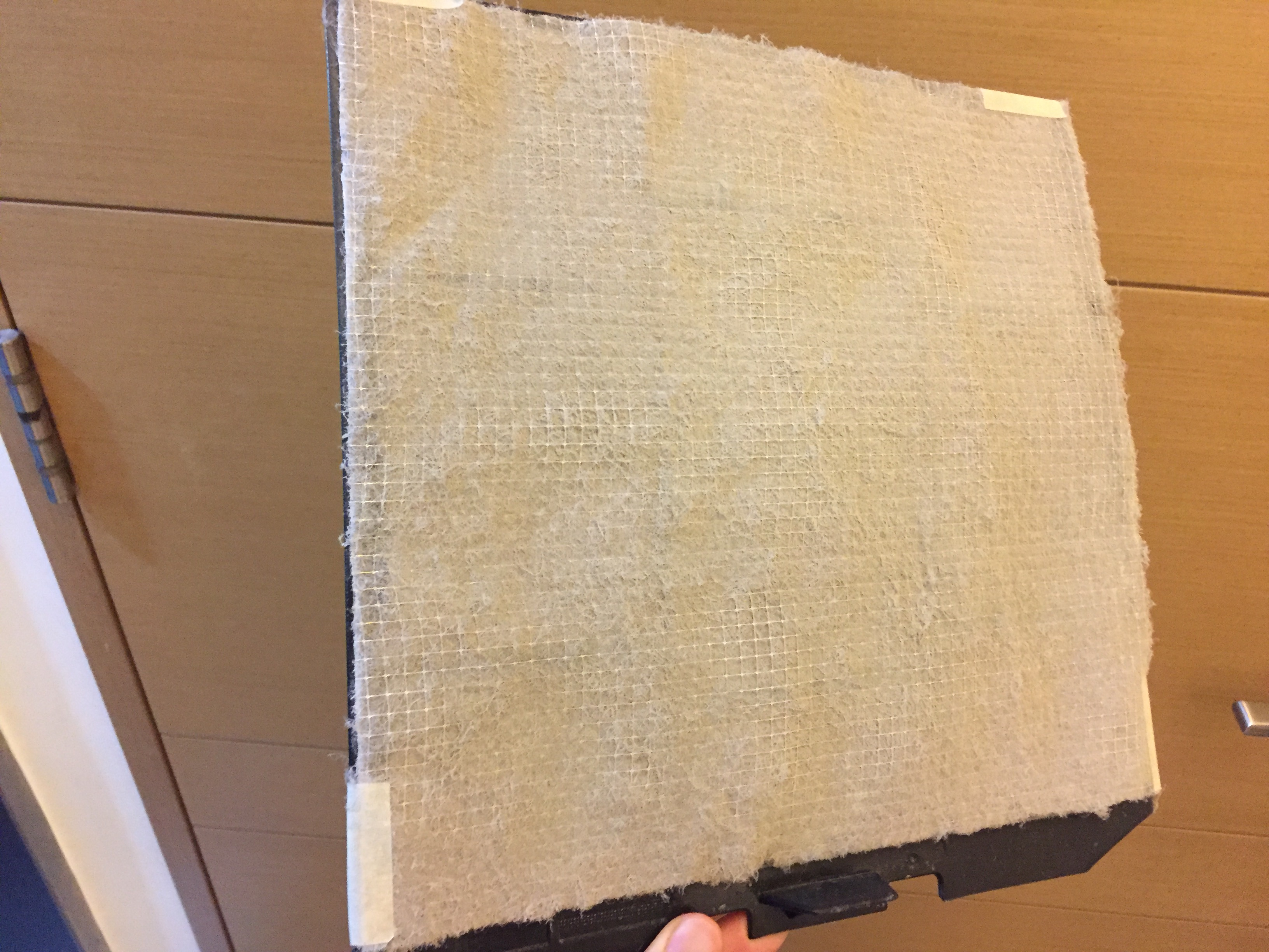 dust build up on air conditioner filter