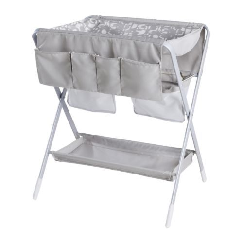 Ikea grey collapsible baby changing table